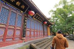 Templo turístico del pujisi de la visita en área escénica de la isla putuoshan Imágenes de archivo libres de regalías