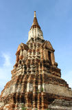 Templo velho arruinado de Ayutthaya imagens de stock royalty free