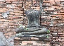 Templo velho arruinado de Ayutthaya imagens de stock