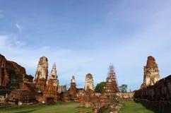 Templo velho arruinado de Ayutthaya fotos de stock royalty free