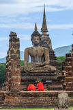 Templo velho de Sukhothai Fotos de Stock Royalty Free