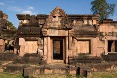 Templo velho do khmer no por do sol Fotografia de Stock