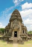 Templo velho do pagode de buddha com o céu nebuloso em Ayuthaya Tailândia Imagens de Stock Royalty Free