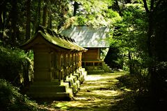 Templo velho em Japão Imagens de Stock Royalty Free
