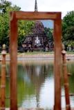 Templo velho em Sukhothai, Tailândia foto de stock
