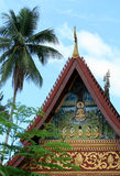 Templo velho no prabang do luang, laos Fotos de Stock Royalty Free