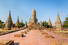 Templo velho, Wat Chaiwatthanaram Temple da província de Ayuthaya Fotografia de Stock Royalty Free