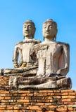 Templo velho, Wat Chaiwatthanaram Temple da província de Ayuthaya Imagem de Stock