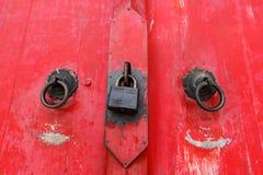 Templo vermelho da porta Foto de Stock