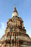 Templo viejo arruinado de Ayutthaya imágenes de archivo libres de regalías