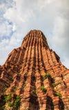 Templo viejo de Ayuthaya Foto de archivo