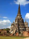 Templo viejo en Ayutthaya foto de archivo libre de regalías