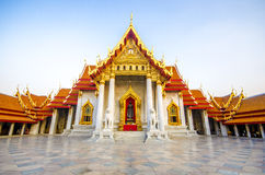 Templo (Wat Benchamabophit), Banguecoque, Tailândia foto de stock royalty free