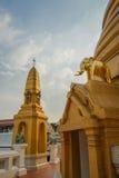 Templo Wat Bowonniwet Vihara, Bangkok Fotos de archivo libres de regalías