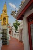 Templo Wat Bowonniwet Vihara, Bangkok Imagen de archivo