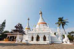 Templo Wat Phra That Doi Kong MU Mae Hong Son Foto de archivo