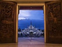 Templo y artes tradicionales de madera del arte Imagen de archivo