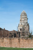 Templo y Chedi en Ayutthaya, no visto de Tailandia Imagen de archivo
