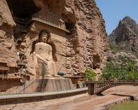 Templo y grutas de Bingling en Yongjing, Gansu, China fotografía de archivo libre de regalías