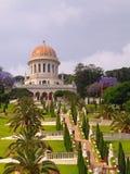 Templo y jardines de Bahai en Haifa foto de archivo