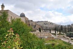 Templo y la pared que se lamenta de Solomon Fotografía de archivo