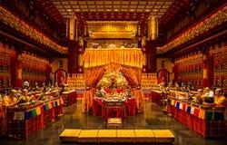 Templo y museo, Singapur de la reliquia del diente de Buda fotografía de archivo