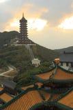 Templo y torre Imagen de archivo libre de regalías
