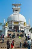 Templo y visitantes históricos del dhauli fotos de archivo libres de regalías