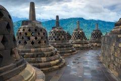 Templo Yogyakarta de Borobudur. Java, Indonésia Fotografia de Stock