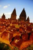 Templo Yogyakarta de Prambanan Imagem de Stock