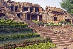 Templos antiguos de la cueva Imágenes de archivo libres de regalías