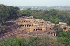 Templos antiguos de la cueva Imagen de archivo