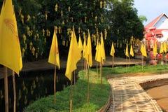 Templos budistas de Chiang Mai - Wat Phan Tao e suas monges, Tailândia Imagens de Stock Royalty Free