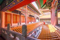 Templos budistas de los templos chinos Foto de archivo libre de regalías