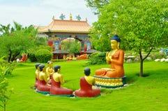 Templos budistas de Lumbini, Nepal Imagen de archivo
