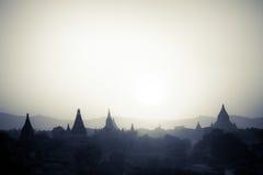 Templos budistas en Bagan Kingdom, Myanmar (Birmania) Foto de archivo libre de regalías