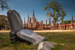 Templos de Ayutthaya fotos de archivo