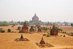 Templos de Bagan Imagens de Stock
