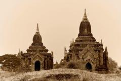 Templos de Bagan Fotos de Stock