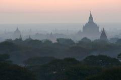 Templos de Bagan en Myanmar Imágenes de archivo libres de regalías