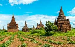 Templos de Bagan, Myanmar Imágenes de archivo libres de regalías