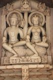 Templos de Khajuraho e suas esculturas eróticas, Índia Foto de Stock Royalty Free