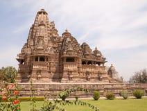 Templos de Khajuraho, la India Fotos de archivo libres de regalías
