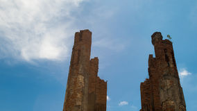 Templos de ruína em Ayuddhaya, Tailândia Foto de Stock Royalty Free