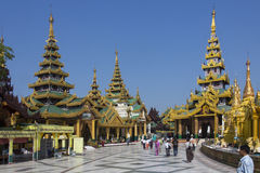 Complexo do pagode de Shwedagon - Yangon - Myanmar Foto de Stock