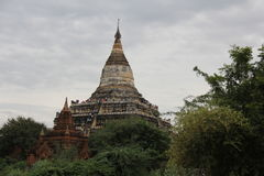 Templos e stupas velhos de Bagan Imagens de Stock Royalty Free