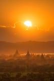 Templos em Bagan Fotografia de Stock