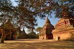 Templos en Bagan Fotografía de archivo