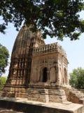 Templos Jain de los temas del amor y del sexo en Khajuraho Grupo del este de templos de Khajuraho, Madhya Pradesh, la India, here fotografía de archivo
