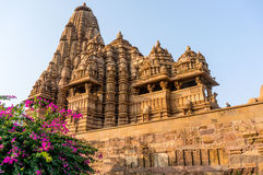 Templos jain hindu na Índia de Khajurao Fotos de Stock Royalty Free